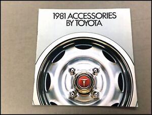 1981 Toyota Car Dealer Accessories Brochure Catalog  Celica Corolla Truck Corona