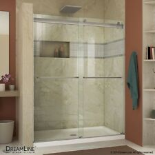 DREAMLINE ESSENCE 44 48 X 76 FRAME LESS BYPASS SLIDING CLEAR GLASS SHOWER DOOR