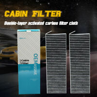2PcFor Citroen C4 Berlingo Peugeot 3008 5008 Partner Car Pollen Cabin Air Filter