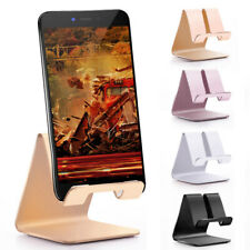 1/2Pcs Mobile Phone Tablet Desktop Stand Desk Holder Mount Cradle Aluminium
