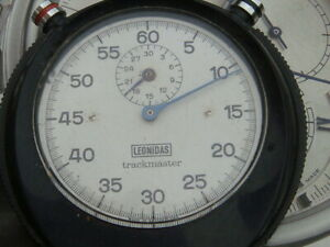 Leonidas Heuer trackmaster stop watch project Le Mans Rally racing car track 60s
