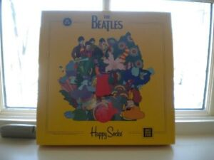 HAPPY SOCKS LIMITED EDITION THE BEATLES COLLECTORS BOX 6 PACK LADIES 36-40NIB