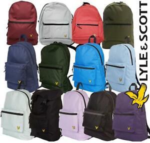 Lyle & Scott Unisex BackPacks Gym Bag Travel Holiday Rucksack Various