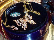 CHRISTMAS GIFT: Sequin Bead Embroidered Silk Jewelry Box Purple Aarong Handmade