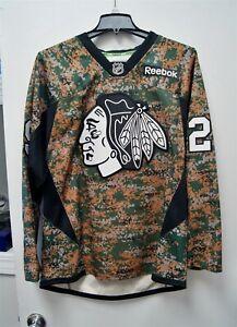 Reebok NHL Hockey Chicago Bryan Bickell Blackhawks Camouflage Jersey Large C3486
