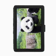 Panda Cigarette Case D1 Metal Wallet Giant Bear Black and White Cute Fluffy Rare