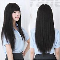 70cm Korean Fashion Long Straight Cosplay Party Women Girl Kawaii Hair Full Wig
