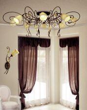Plafoniera classica 8 luci colore terra di siena coll. Dese 1865-8PL
