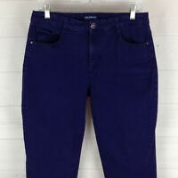 Bandolino Amy womens size 12 x 29 stretch purple mid rise soft tapered jeans
