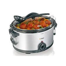 Lequip SLO-5500 Slow Cooker Stew Steamer Temperature Adjustment Safety Lock 220V