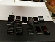 Lot of 11 Zte, Htc, Lg, Umx Cell Phones For Parts or Repair w Cracked Screens