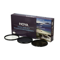 HOYA 58mm Digital Filter Kit Set: HMC UV, CPL/Circular Polarizer, NDx8 , & Pouch