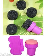 2 Set de Sellos + Esponjas Estampado de Uñas + DIY Nail Art Stamp Scraper Conadd