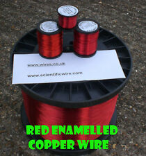 0.4mm 27 swg 26 awg fiche émaillé copper winding wire-rouge 500g