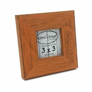 Rustic and Refined Picture Frame Country Colors orange Solid Hardwood