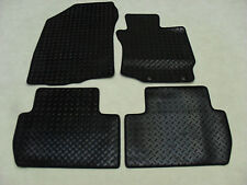 Mitsubishi Outlander (Auto) 2013-on Fully Tailored Deluxe RUBBER Car Mats Blk