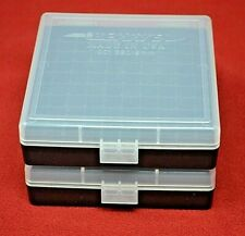 2 x 9mm/.380 Ammo Box / Case / Storage 100 Round Boxes each Clear Color