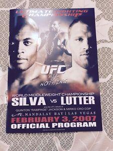 "UFC 67 OFFICIAL PROGRAM ALL FOR NOTHING SILVA VS LUTTER FEB 2007 13.25"" X 9.5"""