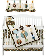 Jungle Tales 8pc Crib Bedding Set By Nojo Monkey Elephant Giraffe Newborn Gift