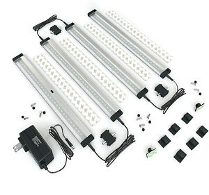 EShine 4 Panels 12 inch LED Dimmable Under Cabinet Lighting Kit - Cool White
