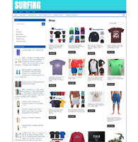 SURFING STORE WEBSITE WITH DOMAIN - 1 YEARS HOSTING - EASY TO RUN BUSINESS
