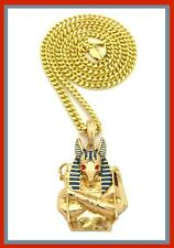 Hip Hop Iced Out Egyptian Pendant Cuban Gold Chain Necklace Anubis Dog New Style