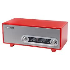 Retro Style Crosley Vintage RADIO with Glossy Piano Finish, RED Color