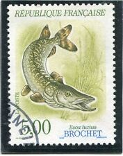 STAMP / TIMBRE FRANCE OBLITERE N° 2666 POISSON FAUNE BROCHET