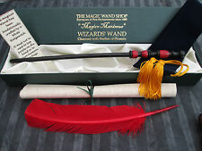 New listing Wooden Magic Wand wizard/witch red feather Black & Red Harry Potter style New