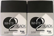 2 NEW BOTTLES WHITE 2 BLACK INDOOR TANNING BED LOTION