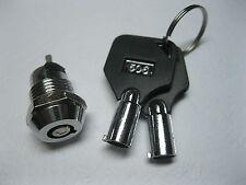 12 pcs Key Switch ON/OFF Lock Switch KS3 with Plastic Handle New