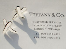 Tiffany & Co Sterling Silver Small KISS Paloma Picasso Graffiti X Earrings