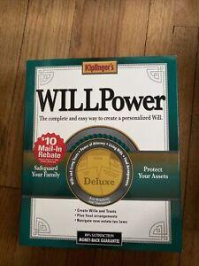 Kiplingers Will Power Deluxe 2002 Software (CD-ROM Apple Mac PC Big Box  window