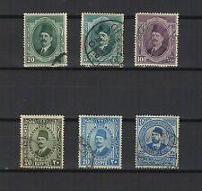 Égypte 1920/30 Roi Fouad 1er  6 timbres oblitérés /T1933