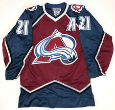 PETER FORSBERG 1996 STANLEY CUP STARTER AUTHENTIC COLORADO AVALANCHE JERSEY 46