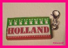 * Holland * Charms Armband Anhänger Kettenanhänger m. Karabiner NEU  (c398)