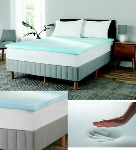 Mainstays 2 inch Gel Infused Memory Foam Twin Mattress* Topper US certified foam