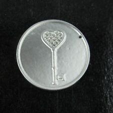 4149 Magnet Brosche Schlüssel Herz Magnetbrosche Schalhalter Strass Tuchhalter