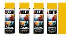 4 PEINTURE AEROSOL JAUNE CARROSSERIE AUTO MOTO VELO SCOOTER VEHIDECOR