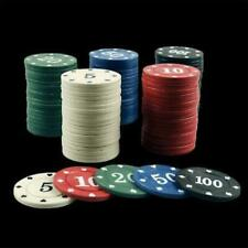 100pcs Round Plastic Chips Casino Poker Card Baccarat Game Counting Accessories