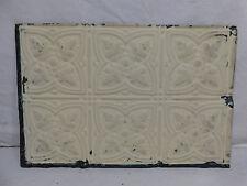 """12"""" x 18"""" Antique Tin Ceiling Tile - C. 1890 Fluer De Lis Architectural Salvage"""
