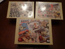 ZIPPO PUZZLES MADE FOR ZIPPO'S 70TH ANNIVERSARY MINT & SEALED LOT OF 3 DIFFERENT