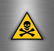 Sticker decal car vinyl jdm bomb tuning poison skull warning danger bumper