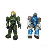 Green Spartan & Jump Brute Covenant : Halo Mega Bloks Construx Mattel Figure