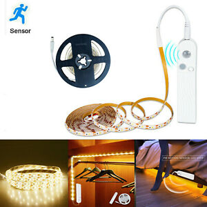1M 2M 3M Wireless PIR Motion Sensor LED Strip Light Battery Powered Night Safety