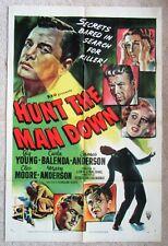 HUNT THE MAN DOWN ORIGINAL 1951 1SHT MOVIE POSTER FLD GIG YOUNG EX