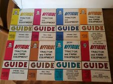 Vintage Lot of Official Guide Tractors And Farm Equipment 1960, 61, 62, 63.Vg