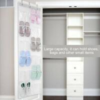 Transparent Door Hanging Bag Shoe Rack Hanger Storage Tidy Organizer 24 Pockets