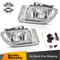 for 1999-2004 Honda Odyssey Clear Bumper Fog Lights Lamps Pair w/ Wiring & Bulbs