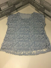 Grey Flowered Lined Blouse Size 18 Lined Sleeveless Unworn